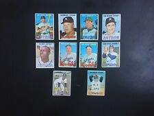 1967 Topps Baseball Lot of 9 different Cards