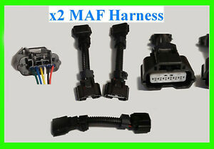 "x2 MAF Mass Air Flow Connector Fits Nissan Infiniti VQ35 5"" Harness 370z Pigtail"