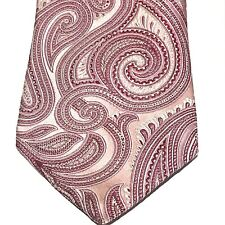 Michael Kors Mens Necktie Pink Paisley Tie Vintage 3.5 X 57 Silk USA