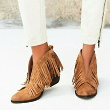 Coconuts by Matisse Lombard Fringe Booties Size 8