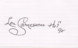 Lou Carnesecca - St. John's Univ. Basketball Coach - Signed 3x5 Card