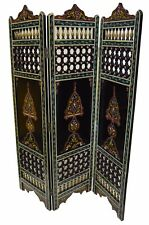Wood Room Divider Screen Partition Moroccan Separation Panels Handmade XL Black