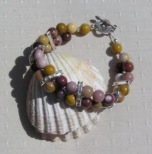 """Mookaite Jasper Crystal Gemstone Glamour Bracelet """"Desert Glitz"""""""