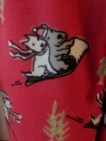 June and Daisy Womens Lounge Pants Red Christmas Winter Dog Pajamas Size Medium