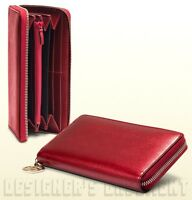 GUCCI shiny red Leather LOVELY Heart Charm Zip Around Wallet NIB Authentic $570!