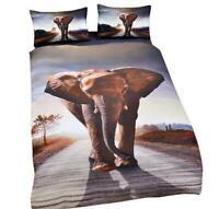 3D Elephant Duvet Comforter Cover Pillowcase Bedding Set Twin Queen King 3pcs