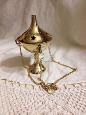 Brass Hanging Stars Incense Burner Wiccan Pagan Metaphysical 02