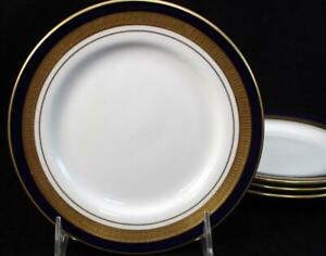 Aynsley COBALT ROYALE 4 Bread & Butter Plates Bone China VERY GOOD CONDITION