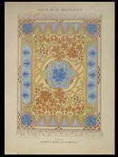 TAPIS, MARONNIER -1901- LITHOGRAPHIE, TAPIS ART NOUVEAU, BONVALLET
