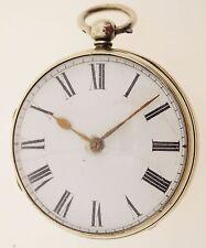 ADAMS & HOTHAM LONDON Spindel-Taschenuhr von ca. 1830 Schnecke Kette -  selten!