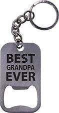 Best Grandpa Ever Bottle Opener Key Chain - Great Gift for Father's Day, Birthda