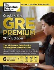2017 CRACKING THE GRE PREMIUM book Princeton Review study guide 6 practice tests