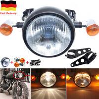 Motorrad 6.5'' Hi/Lo Hauptscheinwerfer+Blinker+Halter für Harley Bobber Chopper