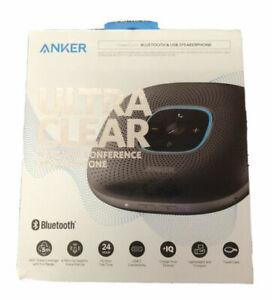 Anker PowerConf Bluetooth Speakerphone Voice Enhancement Home Office Black New