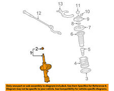 TOYOTA OEM 2011 Corolla Front Suspension-Strut Right 4851080528