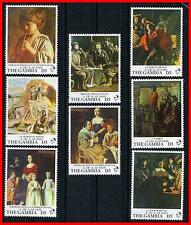 THE GAMBIA 2003  FRENCH PAINTINGS MNH COSTUMES, MUSIC (K-J18)