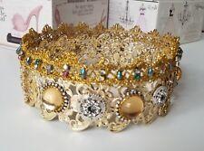 Gold Crown, Queen Crown, Masquerade Costume, Venice Carnival.