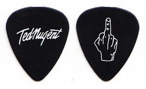 Ted Nugent Signature Middle Finger Black Guitar Pick - 2000 Tour