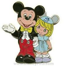 MICKEY & GIRL PRECIOUS MOMENTS DISNEY WHERE DREAMS COME TRUE JUMBO LE 400 PIN