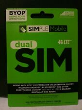 Brand new Simple Mobile Standard Micro dual sim Sim Card, blank card