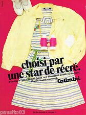PUBLICITE ADVERTISING 055  1981  CATIMINI   mode enfantine STAR DE RECRE