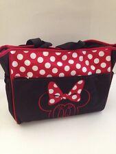 Disney Minnie Mouse Baby Girl Diaper Bag Tote Black Red Polka Dot Shower Gift