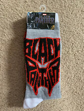 Marvel Black Panther Crew Socks Mens Size 6-12 NEW WITH TAGS /  2 PAIRS
