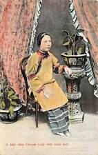 CHINA, LADY WITH BOUND FEET SEATED IN A CHAIR, STERNBERG PUB, c 1904-14