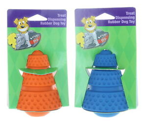 Set of 2 Dog Treat Cone Toy IQ Interactive Food Dispensing Puzzle Dogs Chewing