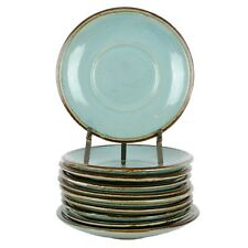 """10 John B Taylor Louisville Pottery Country Fare Saucers 6 1/4"""""""