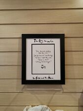 Charlie Mackesy book extract framed. The boy, the mole,the fox and the horse 24