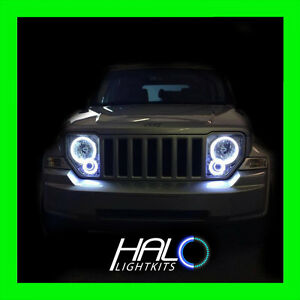 ORACLE LIGHTING WHITE LED LIGHT HEADLIGHT HALO KIT FOR 2008-2013 JEEP LIBERTY