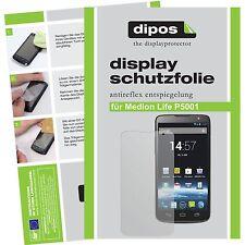 2x dipos Medion Life P5001 Aldi matte Displayschutzfolie Antireflex Testsieger