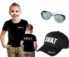 NEW CHILDREN SWAT VEST SHIRT HAT AVIATOR SUNGLASSES SCHOOL KID COMBO FANCY DRESS