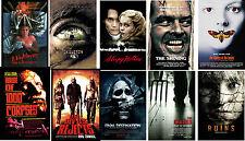 Retro Horror film Movie Posters Elm Street SleepyShining Crazies Devils Rejects