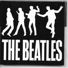 """THE BEATLES black & white fridge magnet 3"""" square  free UK P&P"""