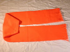 Neon Orange Solid Fleece Scarf Hunting Gear