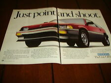 1984 HONDA CIVIC CRX  ***ORIGINAL 2 PAGE AD*** POINT AND SHOOT