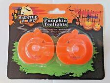 2 Pack Halloween LED Candles Pumpkin Flameless Tea Lights Candle