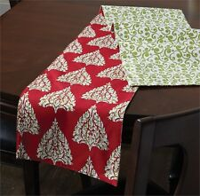 Tannenbaum Tree Scroll Christmas Table Runner