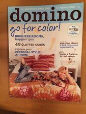 BRAND NEW domino Magazine ~ April 2006 (No Barcodes) WITH BONUS EDITION