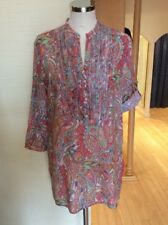 Just White Blouse Size 10 BNWT Multicoloured Paisley RRP £123 Now £55