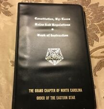 CONSTITUTION , BY-LAWS RULES & REGULATIONS Eastern Star Gr. Lodge Of NC 1997 VGC