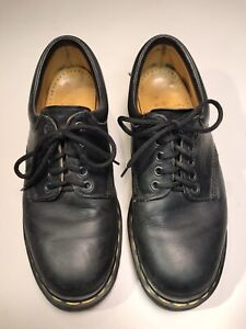 Vintage Doc Dr Martens 8053 Black Leather 5 Eye Oxfords Made in England US 8 VGC