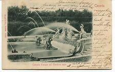 1913 Caserta Cascata d'acqua nel Giardino reale dest. Lucca FP B/N VG