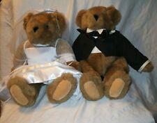 "Vermont Teddy Bear Wedding Bears Bride And Groom Pair 16"""