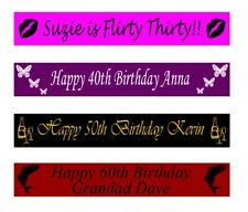 Personalised 21st 30th 40th 50th 60th Birthday Banners Banner 100mm x 1 metre