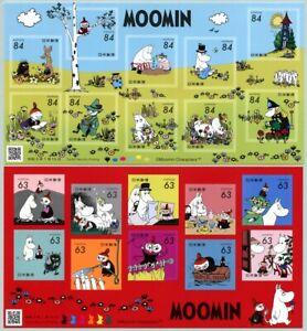 Japan 2021 Moomin Trickfilme Zeichentrickfiguren Comics Cartoons Kleinbogen MNH