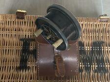 "Allcocks ""Aerial Popular"" 3"" Centrepin Reel & Block Leather Case, 1930's England"