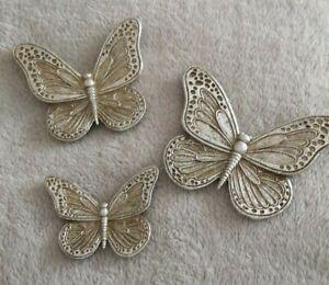 NEXT Set of 3 Gold Butterflies Wall Mounted
